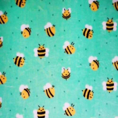 Bees Cuddle Fleece Lime