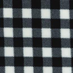 Black and White Check Anti Pil Polar Fleece