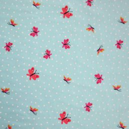 Butterflies Cotton Jersey Mint