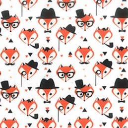 Fancy Foxes Cotton Fabric