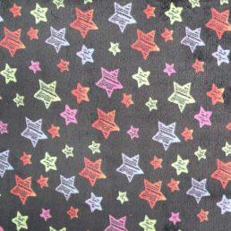 Neon Stars Cuddle Fleece Black