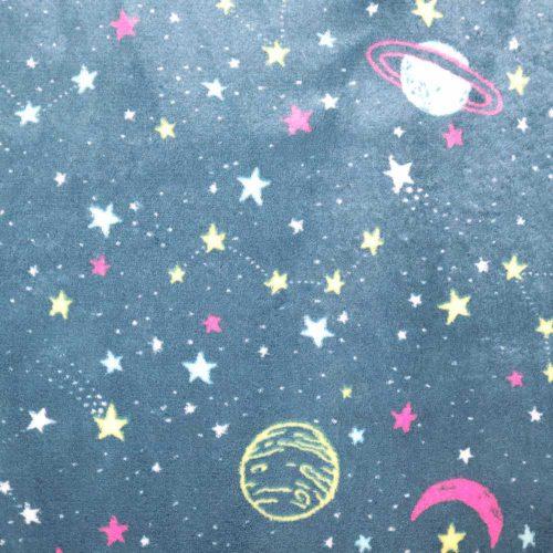 Space Cuddle Fleece Pink