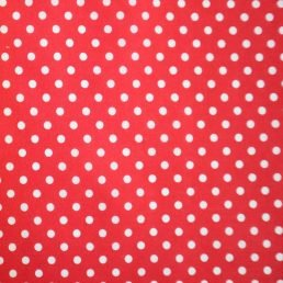 White Spots on Red PolyCotton Fabric
