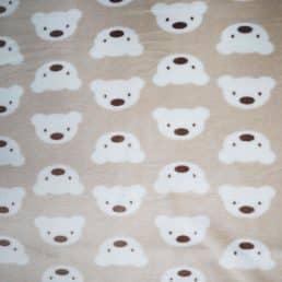 Teddy Face Plush Cuddle Fleece Beige