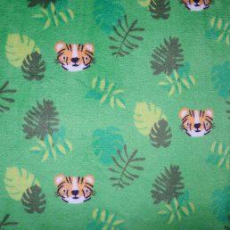 Tiger Cuddle Fleece Lime