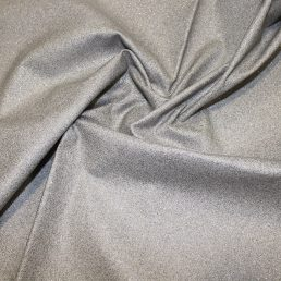 Glitter on Silver Cotton Fabric