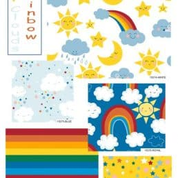 Happy Clouds and Rainbows - Fat Quarters