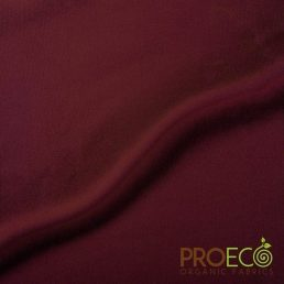 ProEco® Stretch-FIT Heavy Organic Cotton Jersey Fabric Auburn - By the Roll
