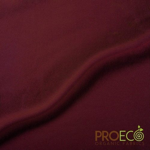 ProEco® Stretch-FIT Heavy Organic Cotton Jersey Fabric Auburn