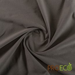 ProEco® Stretch-FIT Organic Cotton SHEER Jersey LITE Fabric Charcoal - By the Roll