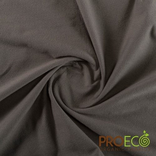 ProEco® Stretch-FIT Organic Cotton SHEER Jersey LITE Fabric Charcoal