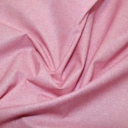 Glitter on Pink Cotton Fabric