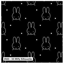 Miffy Cotton Jersey Spandex Black