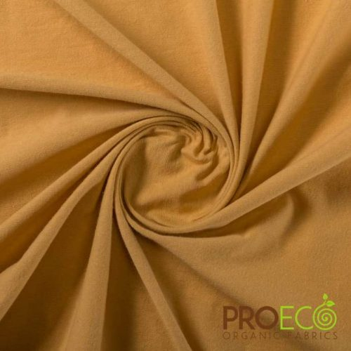 ProEco Stretch-FIT Organic Cotton Jersey Lite Fabric Desert Sand
