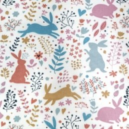 Easter Bunnies PolyCotton Fabric