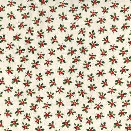 Mistletoes on Ivory Cotton Fabric