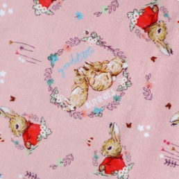 Peter Rabbit Flopsy Mopsy Bunnies on Light Pink Cotton Fabric